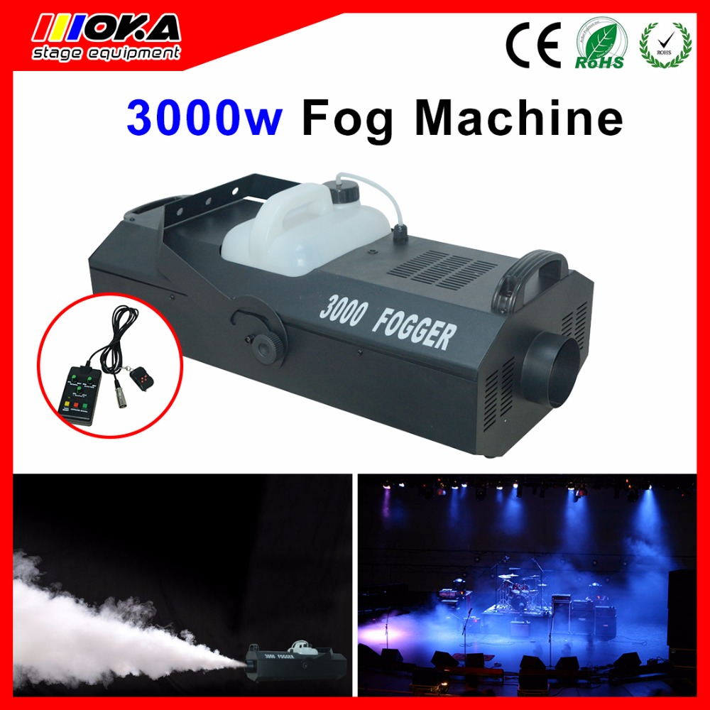 3000W fog machine wire Control remote control DMX512 Control stage smoke machine fogger stage effect equipment