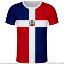 Dominika t shirt logo darmowe niestandardowe nazwa numer dma t shirt flaga narodowa hiszpański dominikany Dominicana republiki drukuj zdjęcie odzież