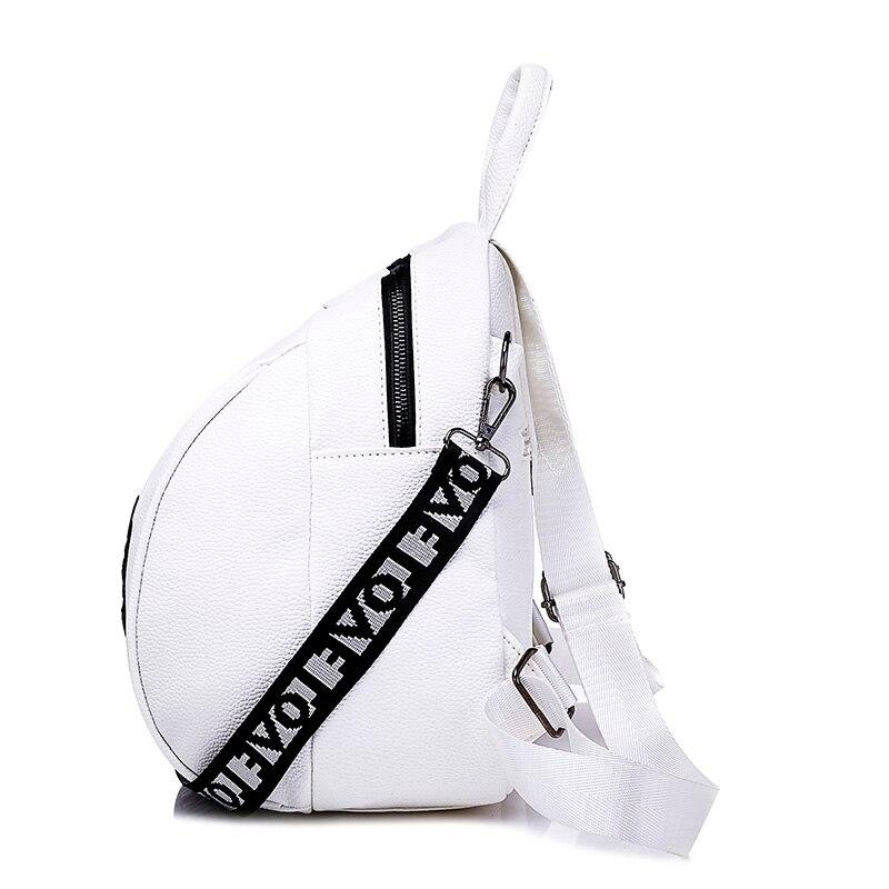Scuola Crossbody Di Femminile Pelle Black1 Moda Disegno In white1 Elefante Pu Borse Zaino Ragazze Bianco white2 Zaini Borsa Ricamo Viaggio black2 Spalla Da qtw6Xq8