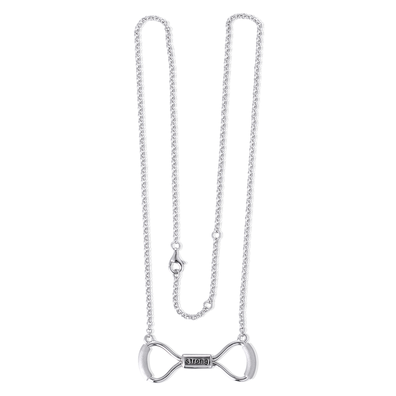 8.6g Weight Sports Jewelry 925 silver Strong Necklace Fitness Equipment Jewelry fits for men & women GW Jewelry XLY019H20