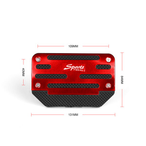 Image 2 - RASTP   Universal Car Aluminum Automatic Gear Brake Accelerator Non Slip Foot Pedal Pad Cover 2Pcs/set Red/Blue/Silver RS ENL017