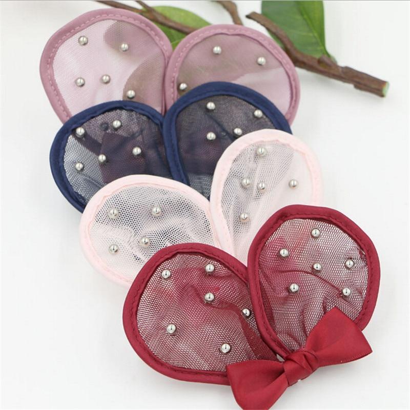 20PCS Kawaii Bling Hair Jewelry Animal Ear Shape Fabric Chiffon Craft DIY Jewelry Accessory Material Todder Headband Decor