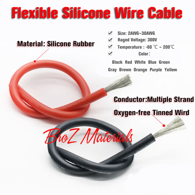 65469fa16fcd 18AWG Flexible Silicone Wire Cable Soft High Temperature Tinned copper UL  VW 1-in Wires & Cables from Lights & Lighting on Aliexpress.com | Alibaba  Group