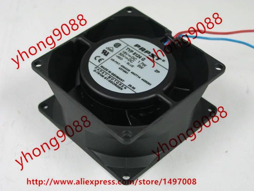 все цены на  ebmpapst TYP 8124 G TYP8124 G DC 18V 1.7W 2-wire 80x80x38mm Server Square Cooling Fan  онлайн