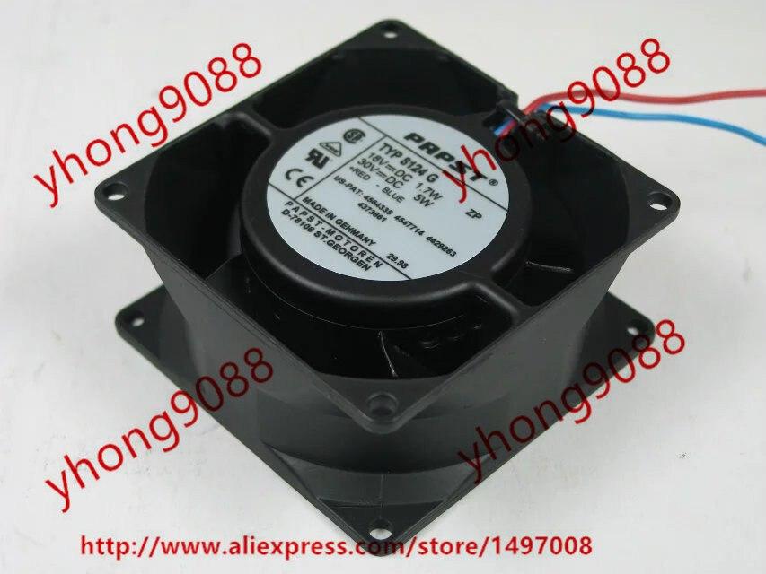 Ebmpapst TYP 8124G DC 18 V 1.7 W 80x80x38mm 2 fils serveur refroidisseur ventilateur