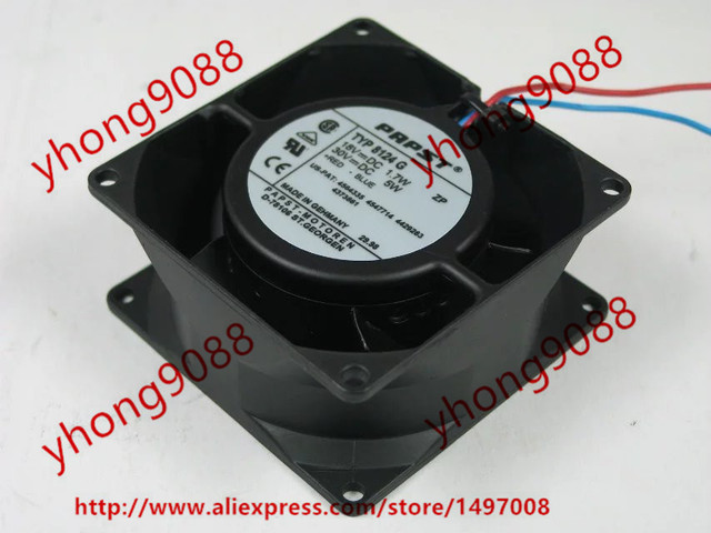 ebmpapst typ 8124 g dc 18v 1 7w 80x80x38mm 2-wire server square fan