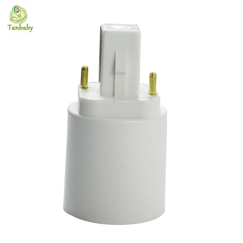 G24 to E27 base adapter White 2pin Base Fixture G24 to E27 screw base convertor PC Retardant for led lamp bulb Dropshipping X