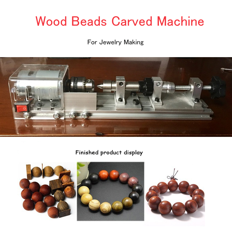 Electric Wood Buddha Beads Maker Round Wood Beads Machine Wood Beads Carved Machine For Jewelry Making tungsten alloy steel woodworking router bit buddha beads ball knife beads tools fresas para cnc freze ucu wooden beads drill