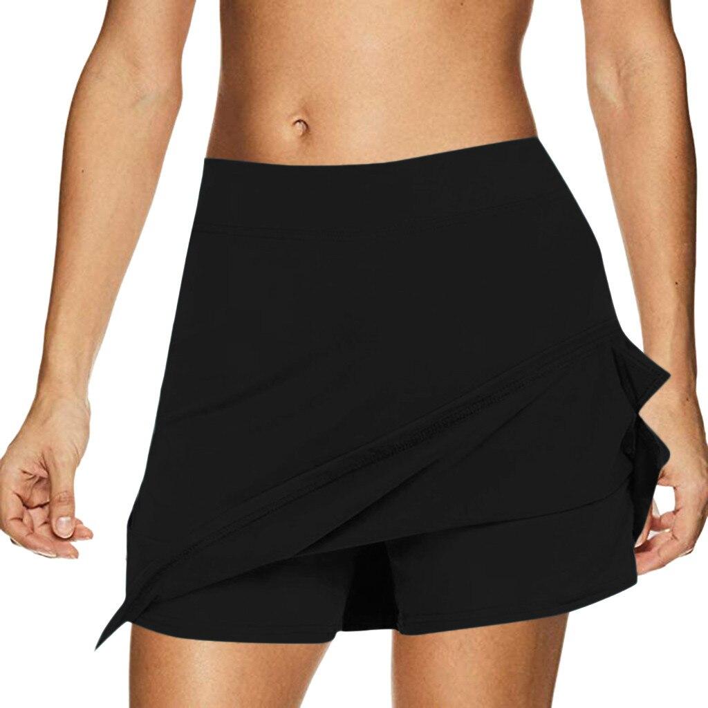 Summer Black Skirt 3 Colors Women's Active Sports Skirts Performance Running Tennis Golf Workout Skirt faldas mujer moda 2020