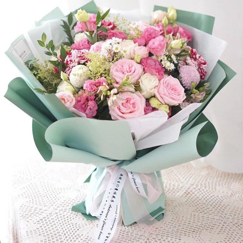 60 см* 10 м/рулон конфеты цвет цветок оберточная бумага Роза свадебная бумага для украшения на рождество упаковка букета материал