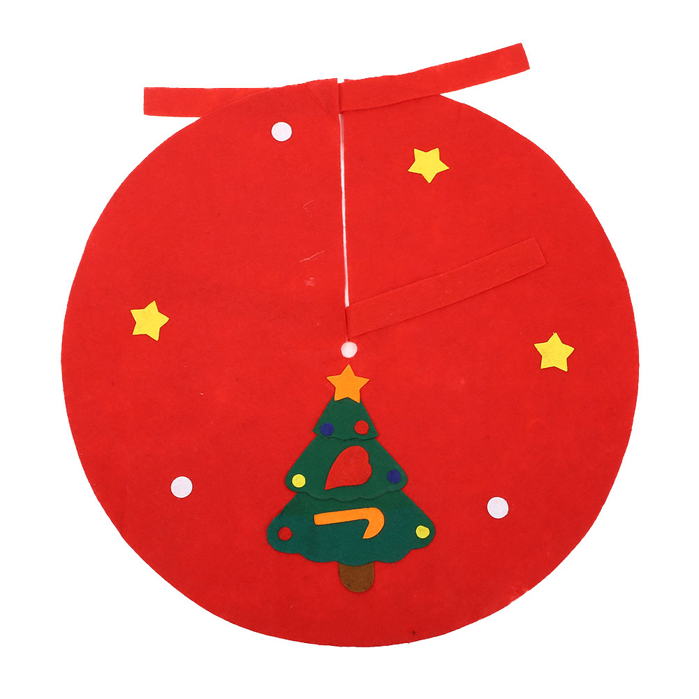 Red 90CM Non-Woven Christmas Tree Skirts Aprons Shop Decoration Creative christmas decorations for home navidad kerst