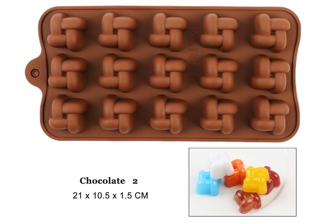 New Silicone Chocolate Molds 29 Shapes Chocolate cake Baking Tools Non-stick Cake Molds Jelly&Candy Molds 3D shape DIY Hot Sale