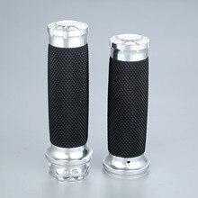 Ручки для мотоцикла с алюминиевой резиновой подкладкой, 25 мм, 7/8 дюйма