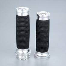 "25mm 7/8"" Motorcycle Handlebar Hand Grips Aluminium Rubber Lining Fit For Honda Yamaha Suzuki Kawasaki"