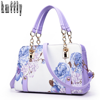 Pochette Luxury Painting Flowers Chain Women Bag Famous Designer Purses And Handbags Ladies Hand Bags Dollar