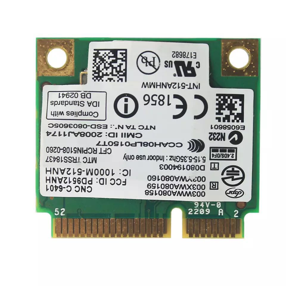 Image 4 - Wireless Wi Fi Network Card Adapter With Intel 5100 512AN_HMW with Half Mini PCI E 802.11a/g/n Dual Band 300Mbps For Laptop-in Network Cards from Computer & Office