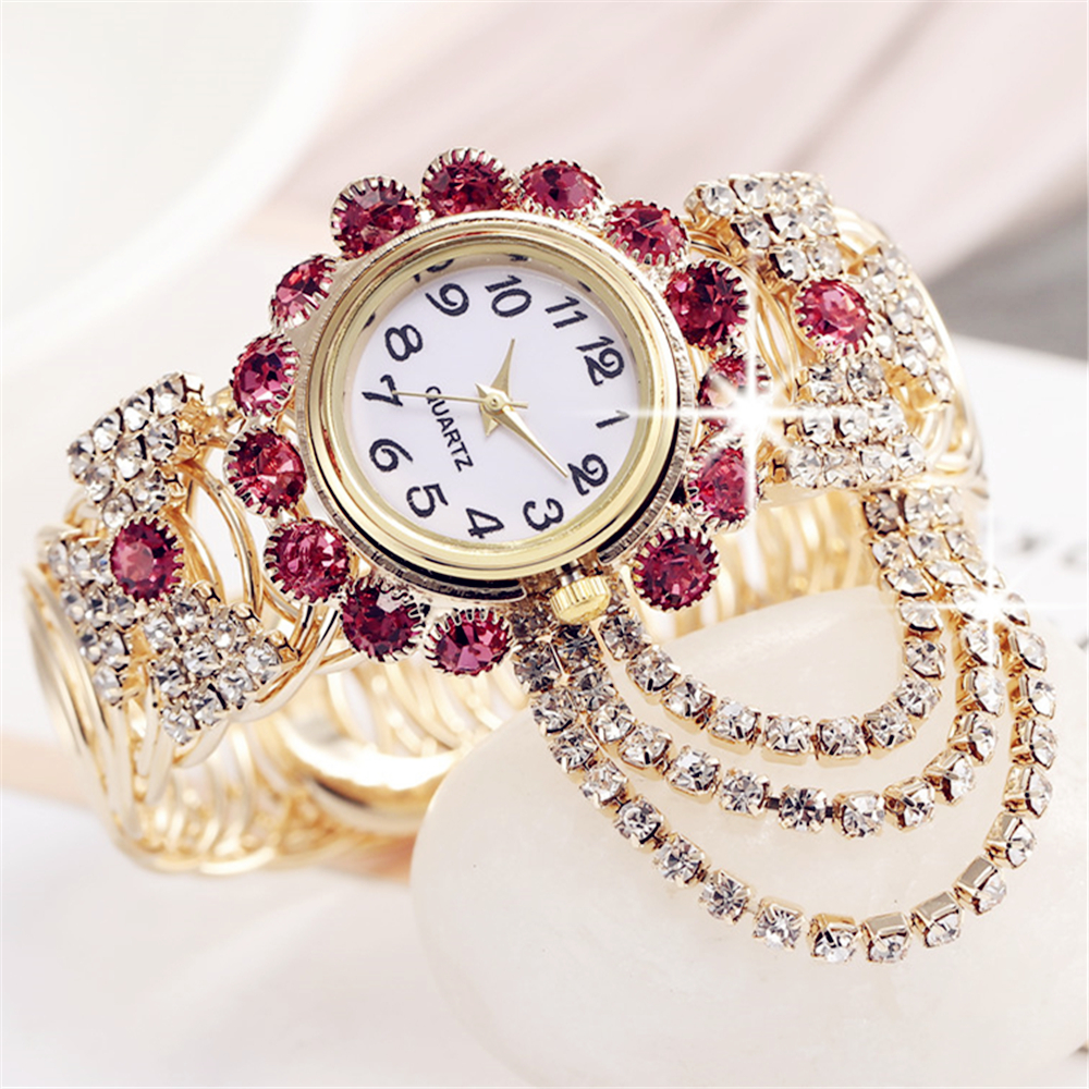 2019 Top Brand Luxury Rhinestone Bracelet Watch Women Watches Ladies Wristwatch Relogio Feminino Reloj Mujer Montre Femme Clock(China)