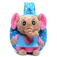 Kid cartoon elephant backpack kids kindergarten cute schoolbag baby girl children school bags mochila escolar gift