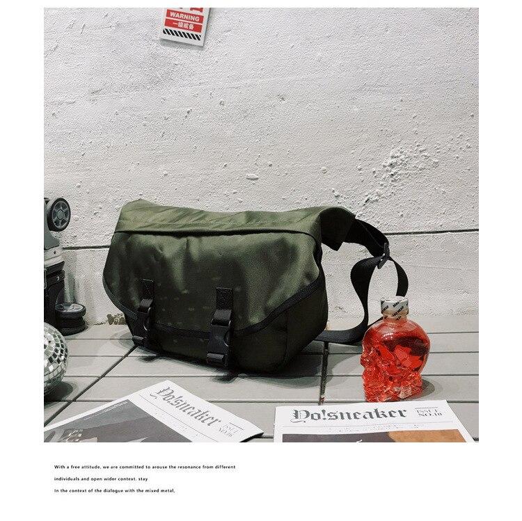 Mannen Canvas Crossbody Tassen Enkele Riem Mannelijke Schoudertassen Toevallige Reizen Handtassen Stevige Rits Schooltassen voor Tieners - 4