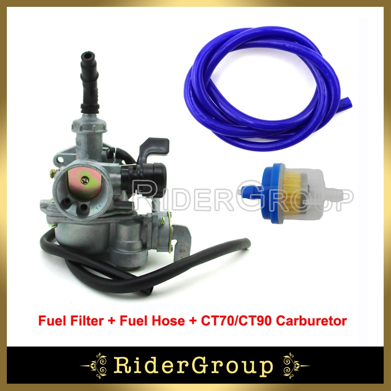 19mm Carb Pz19 Carburetor Fuel Hose Filter For Honda Trail