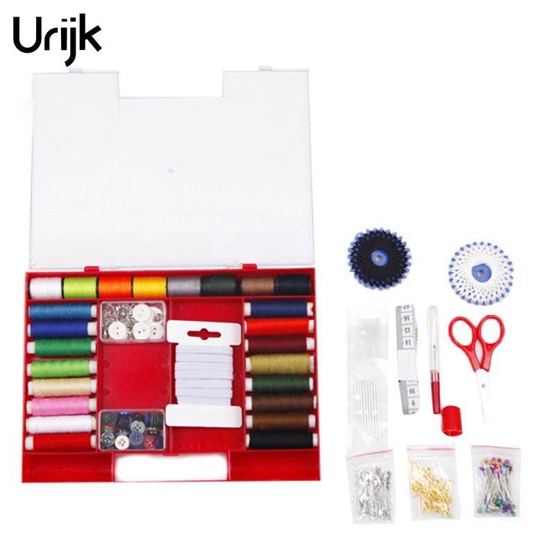 Urijk 316PCs/set Multi function Sewing Tools Set Portable Home Travel Patchwork Sewing Box with Needles Thread Scissor Buttons