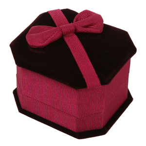 Bowknot Velvet Rectangle Jewel