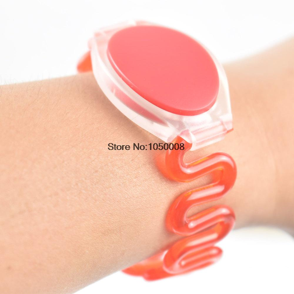 500pcs/lot 125Khz RFID Wristband Bracelet Silicone EM4100 Waterproof Proximity Smart Card Watch Type for Access Control 100pcs lot 13 56mhz rfid silicone wristband bracelet nfc ntag213 ntag216 smart proximity card waterproof for access control