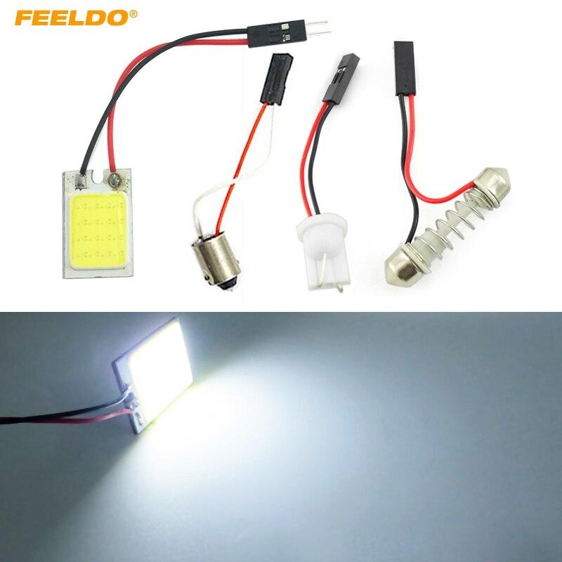 Feeldo 1 шт. 16LED Белый автомобилей COB 16smd 26x16 мм T10 BA9S Гирлянда Панель Свет автомобиля Панель LED лампа для чтения # fd-5273 ...