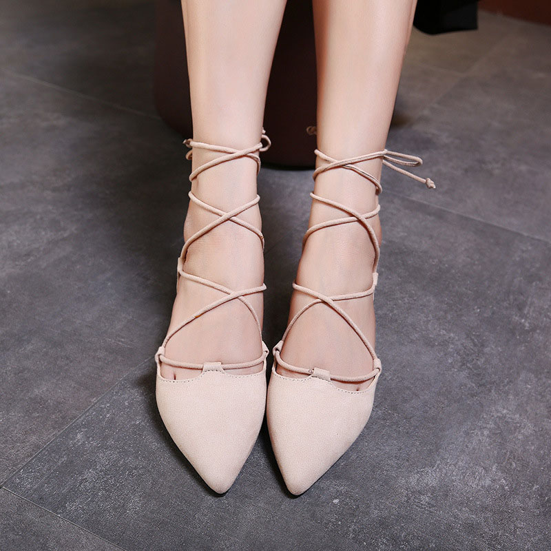 New Pointed Toe Women Shoes Big Size High Quality Casual Woman Shoes Comfortable Fashion Cross Tied Ladies Flat Shoes Female цена 2017