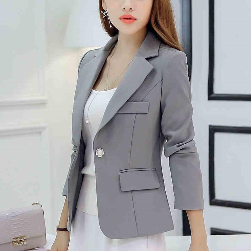2016 Herbst Frauen Blazer Langarm Single Button Frauen Jacke Büro Ol Hochwertigen Mode Dünne Kurze Frauen Anzüge Zy2260