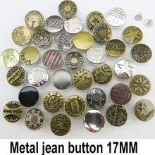 50PCS 17MM MIXED Metal Jeans Button Sewing Clothes Accessories GARMENT DECORATION Fit JMB-079