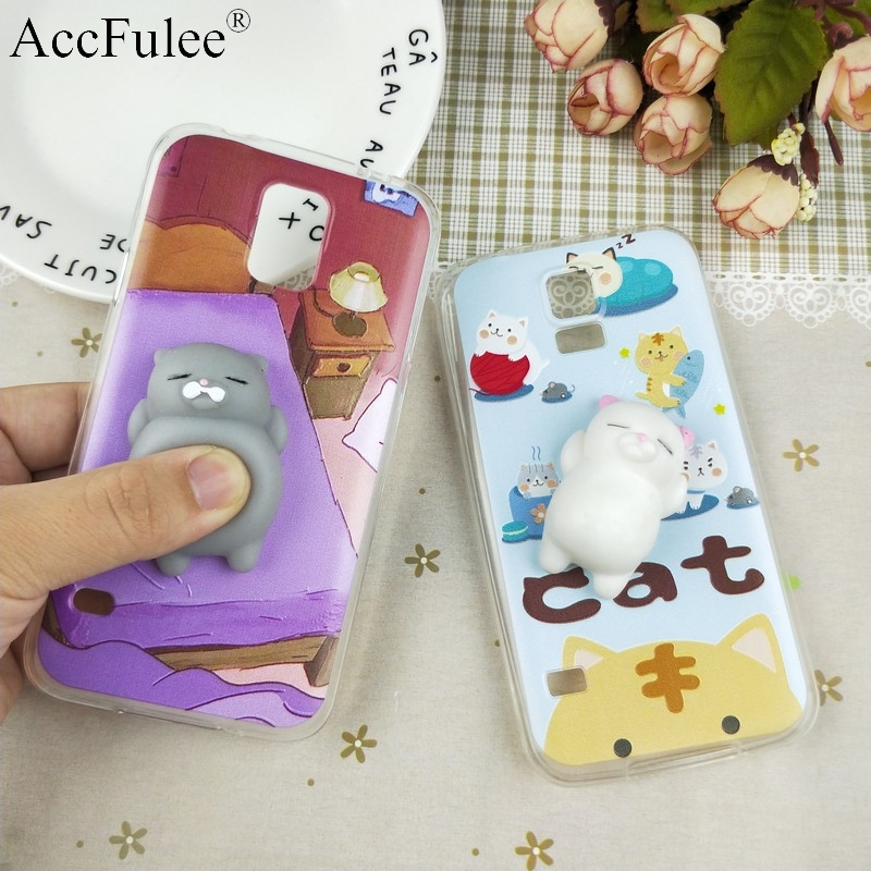 S5 Squishy Funny Cat Case For Samsung Galaxy S5 i9600 S5 Duos G900F G900S 3D Panda Pappy Rabbit Silicone TPU Cover