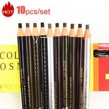 10 pçs/set 5 cores Disponíveis Microblading Sombras Cosméticos para Matiz Maquiagem À Prova D' Água Lápis de Sobrancelha Caneta Sobrancelha Beleza Natural