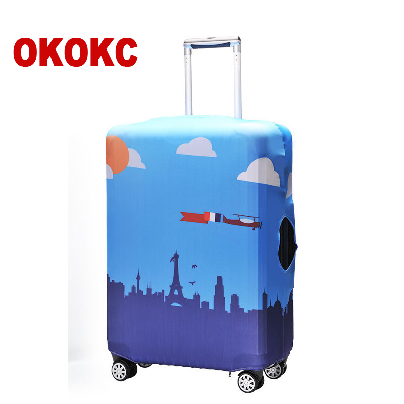 OKOKC Fashion Travel Luggage Cover Elastic 19-32 inch Anti-dust Suitcase Cover with Zipper, Travel Accessories ...