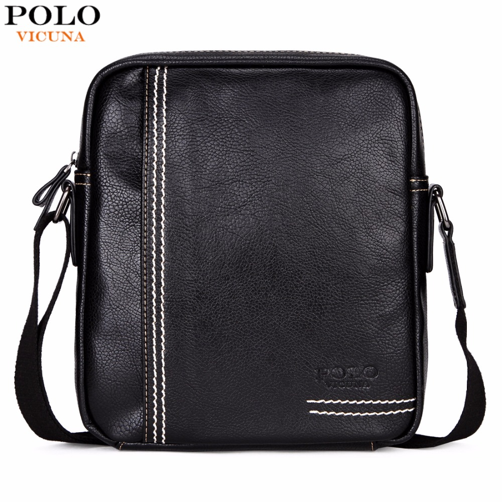 VICUNA POLO Casual Brand Men Crossbody Bag Leisure Multifunctional Shoulder Bag Solid Color Messenger Handbag Business Man Bag