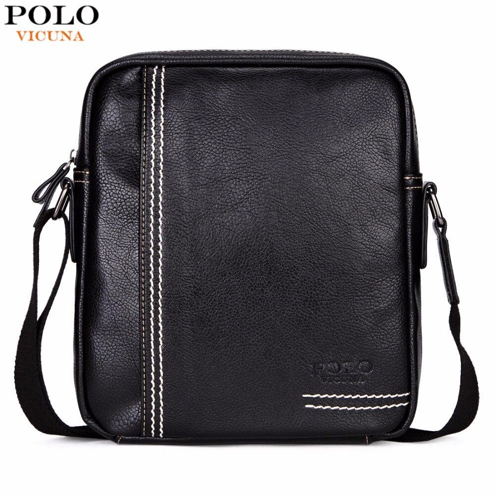 VICUNA POLO Casual Brand Men Crossbody Bag Leisure Multifunctional Shoulder Bag Solid Color Messenger Handbag Business Man Bag