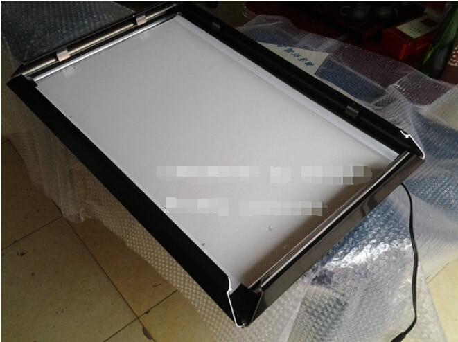 """2"""" x 36"""" настенный ЖК-дисплей черная доска, тонкий рекламный алюминиевый лайтбокс 3 шт./партия Стиль"""