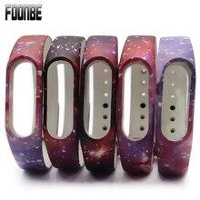 Foonbe для Mi band 2 Силиконовый ремешок для сяо Mi браслет для Mi Группа Браслет 2 группы звездное небо Стиль