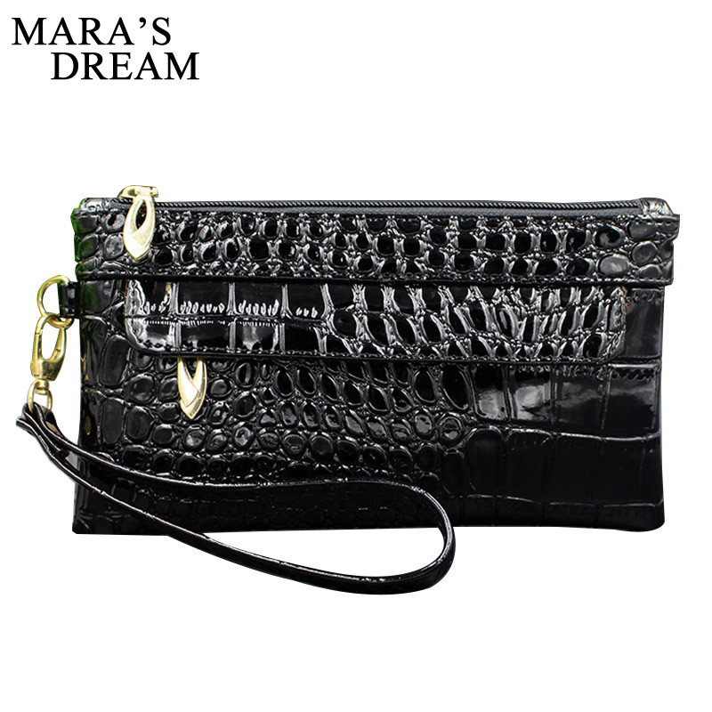 Mara's Dream Fashion Alligator Women's Clutch Bag PU Leather Women Envelope Bag Clutch Evening Bag Female Clutches Handbag kpop fashion knitting women s clutch bag pu leather women envelope bags clutch evening bag clutches handbags black free shipping