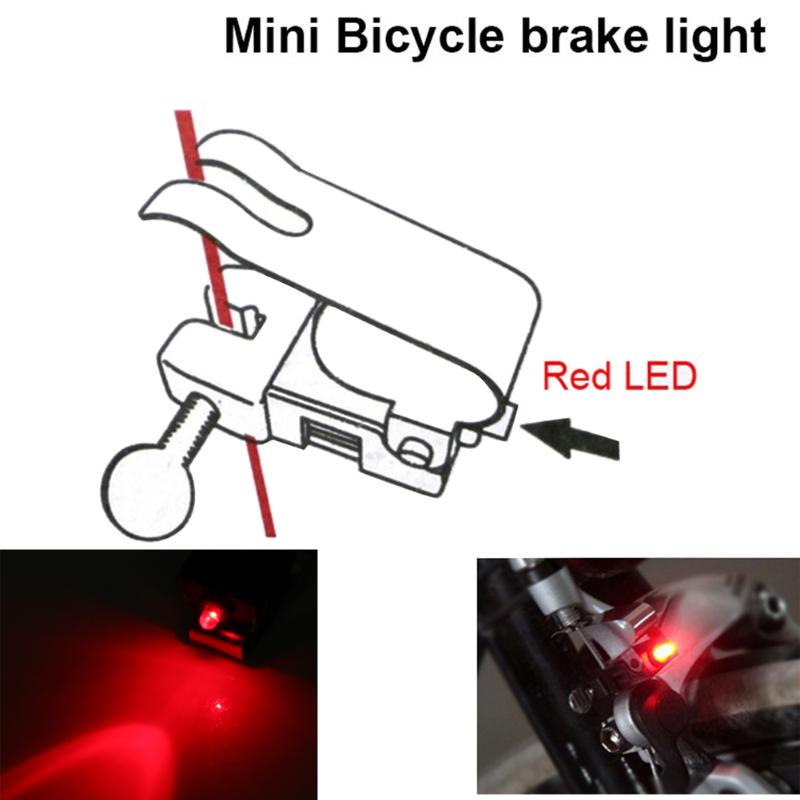 New Bike Brake Lights Mini Tail Brake Lights Bicycle Rear Cycling LED