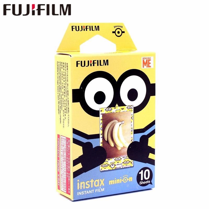 Galleria fotografica Fujifilm 10 sheets Instax Despicable me Yellow Minion Instant Film photo paper for Instax Mini 8 7s 25 50s 90 9 SP-1 SP-2 Camera