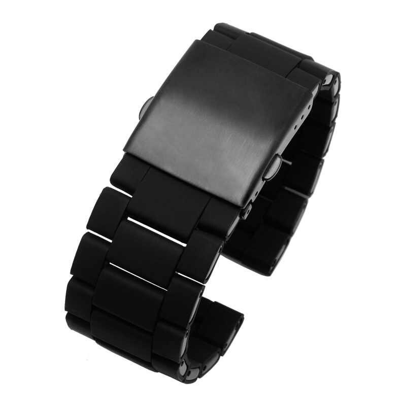5e00bc5f0c85 ... Impermeable de silicona pulsera de reloj diesel banda 28mm DZ7396  DZ7370 DZ428 caucho y acero inoxidable
