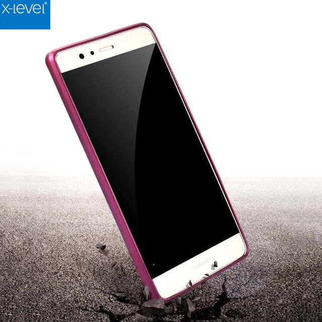 Nóng Bán Cho Huawei P9 Cộng Với Trường Hợp Che Luxury Slim Matte mềm Silicone Áo Giáp Cao Su 360 Cơ Thể Bảo Vệ Cover Quay Lại Phone Case