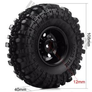 "Image 2 - 4Pcs/Set 1.9inch Rock Terrain Truck Tires&1.9"" Plastic Wheel Rim for 1:10 RC Crawler Axial SCX10 90046 AXI03007 Tamiya CC01 D90"