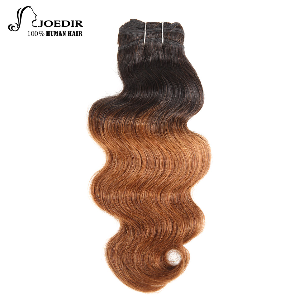 Joedir Pre-Colored Malaysian Body Wave Bundles Remy Hair Weave 100% Human Hair Bundles 14 Inch Only Color T1B30 And 30 Free Ship