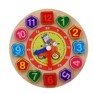 Image 2 - Per bambini In Legno Giocattoli di Puzzle Di Tangram Cognitivo Digitale Orologio Digitale Della Vigilanza di Legno Puzzle Giocattoli Educativi Del Fumetto Threading Giocattoli di Montaggio