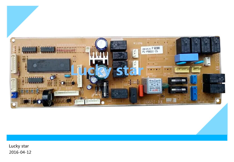 95% new for Air conditioning computer board circuit board  PE-P6651-15 P0497 good working wire universal board computer board six lines 0040400256 0040400257 used disassemble