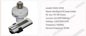 Image 5 - 1/2/3/4 * E27 Kablosuz Uzaktan Kumanda Işık Lambası taban oN/off Anahtarı Soketi tutucu rc akıllı cihaz 110V 220V