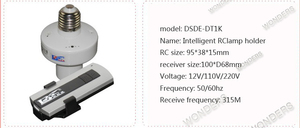 Image 5 - 1/2/3/4 * E27 ワイヤレスリモート制御光ランプベース/オフスイッチソケットホルダー rc スマートデバイス 110V 220V