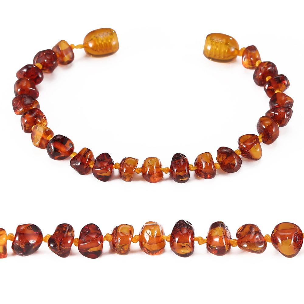 Amber Teething Bracelet/Anklet - No invoice, no price, no logo - 4 Sizes - 4 Colors - Ship from US&UK&AU&CN(China)